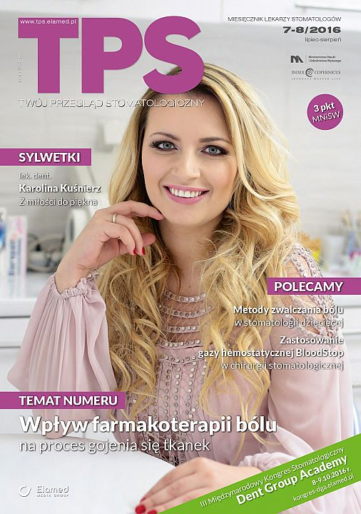 TPS - Twój Przegląd Stomatologiczny wydanie nr 7-8/2016